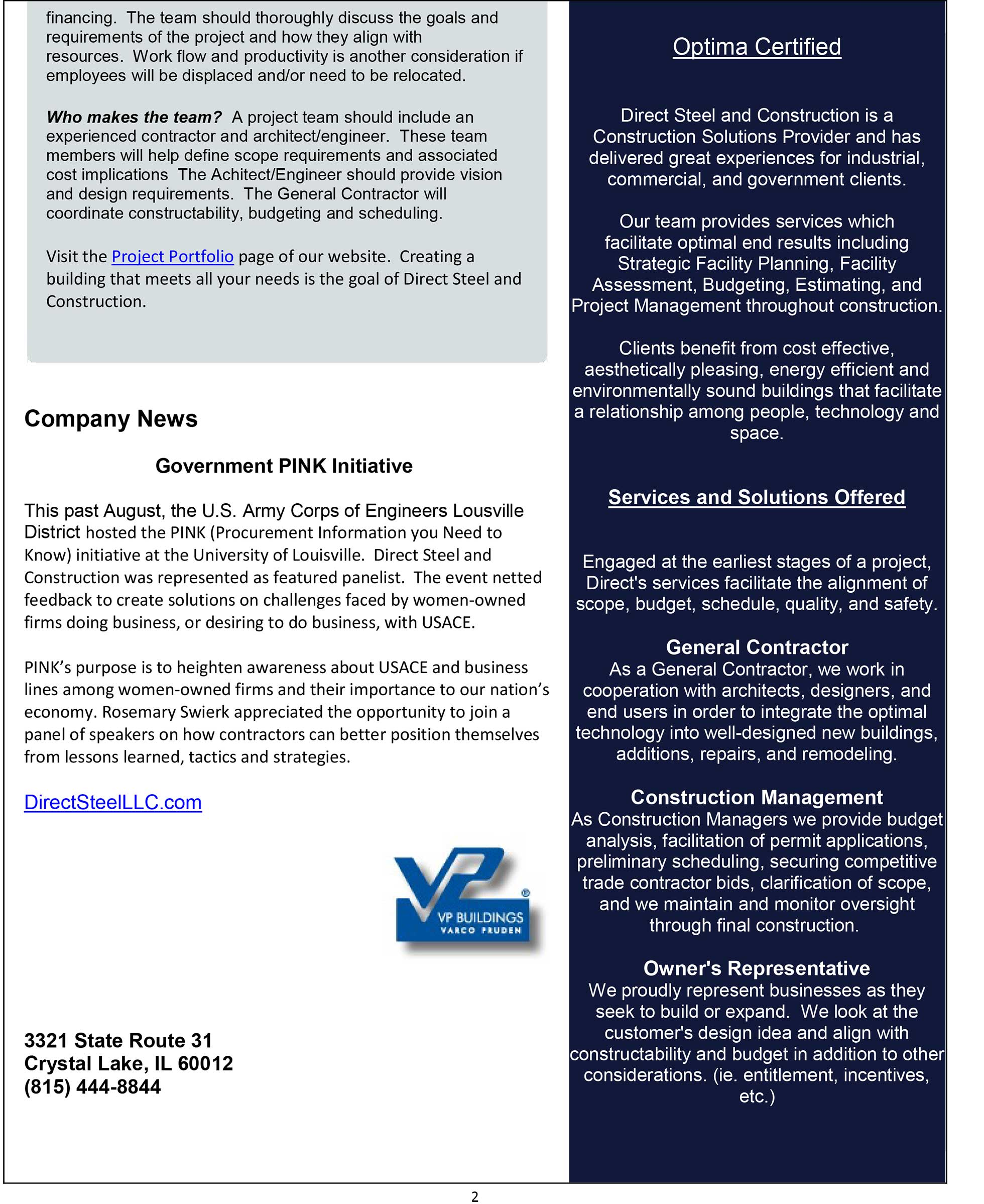 October Quarterly Newsletter pg 2